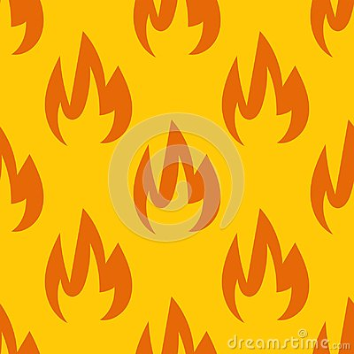 Free Fire Symbols Seamless Pattern Vector Illustration Spurts Of Flame Red Orange Background For Web Pages Wallpaper Stock Photos - 100879743
