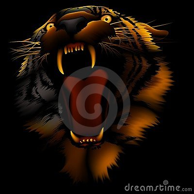Free Fire Tiger Royalty Free Stock Photo - 2097155