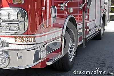 Fire truck close-up
