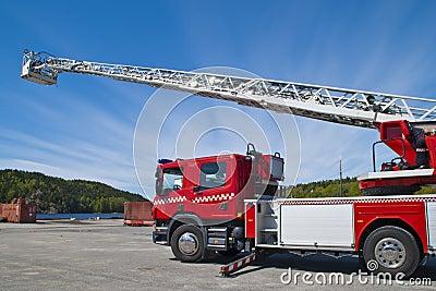 Fire truck (ladder car)