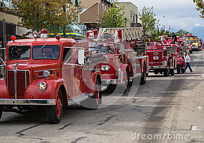Fire truck parade Editorial Photo