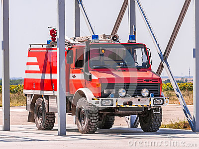 Fire truck ready for intervention