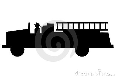 Fire Truck silhouette