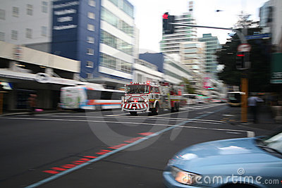 Fire truck speeding