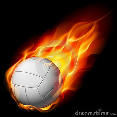 Fire volleyball