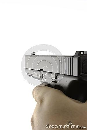 Firearm being aimed