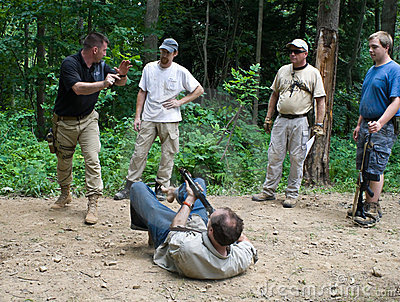 Firearms Training Course Editorial Photography