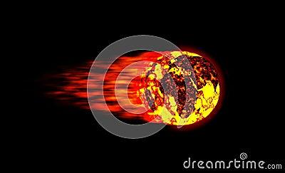 Fireball meteor world