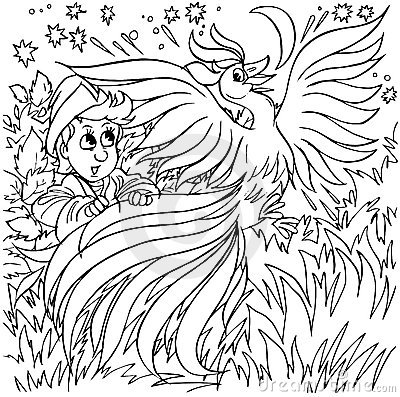 fire bird coloring pages - photo#4
