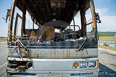 Fired bus