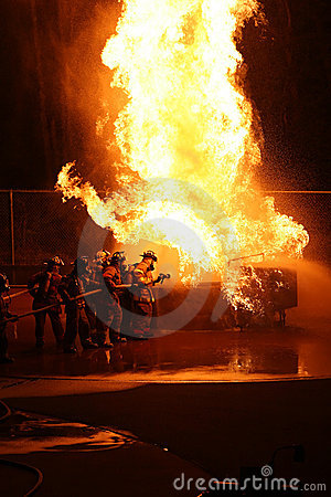 Firefighter Attacking Flames