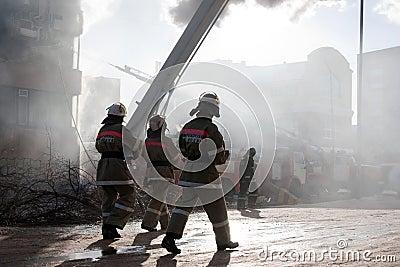 Firefighter on fire
