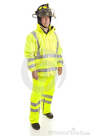 Firefighter Full Body Isolated