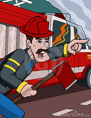 Free Firefighter Help Stock Photography - 18056932
