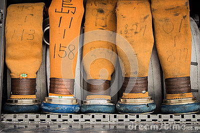 Firefighter hose Editorial Stock Image