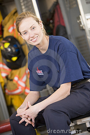 Free Firefighter In The Fire Station Locker Room Stock Photography - 5948832