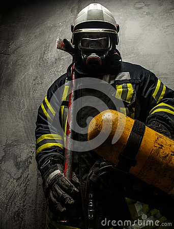 Free Firefighter In Uniform Royalty Free Stock Photo - 108441745