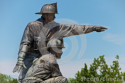 Firefighter Memorial Statue Kansas City Editorial Photo