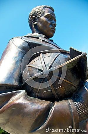 Firefighter Memorial Statue Kansas City Editorial Photography