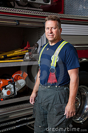 Firefighter Station Portrait