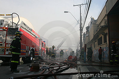 Firefighters Editorial Stock Image