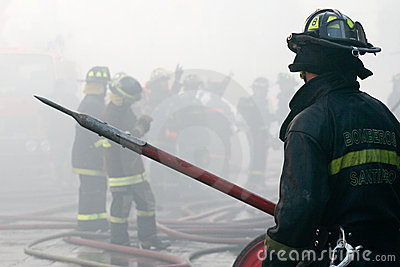 Firefighters Editorial Photo