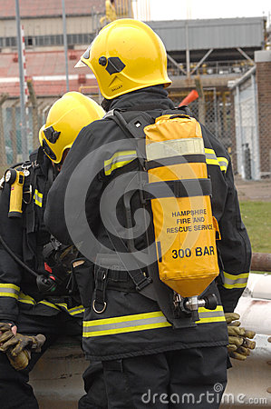 Firefighters breathing apparatus Editorial Photography