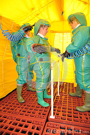Firefighters decontamination Editorial Photography