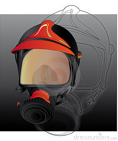 Firefighters gas mask