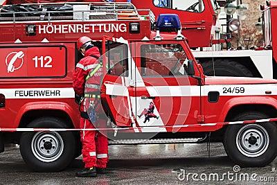 Firefighting Editorial Photo