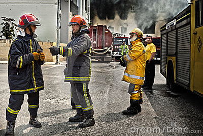 Firefighting Editorial Photo