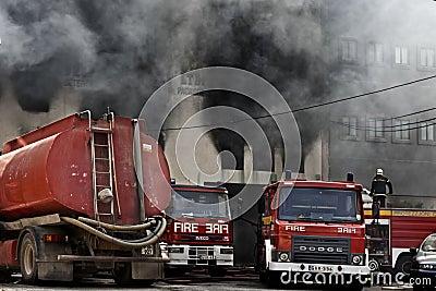 Firefighting Editorial Image