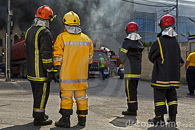 Firefighting Editorial Image