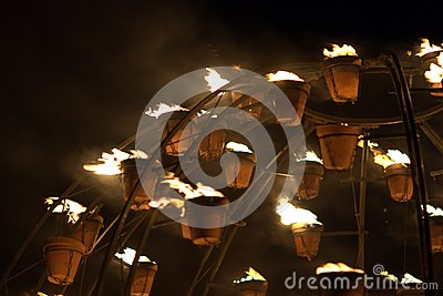 Firegarden at Stonehenge 11th July 2012 Editorial Stock Photo