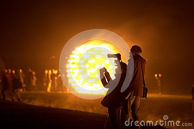 Firegarden at Stonehenge 11th July 2012 Editorial Photo