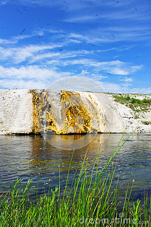 Free Firehole Riverbank In Yellowstone National Park Stock Image - 76493391