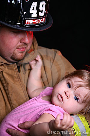 Free Fireman And Child Royalty Free Stock Photos - 6731958