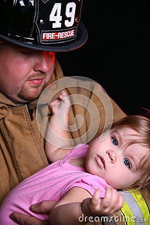 Fireman and Child