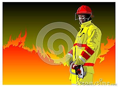 Fireman cutting