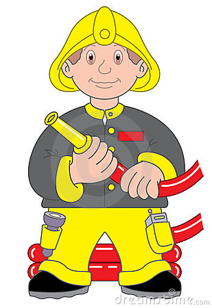 Fireman or firefighter illustration