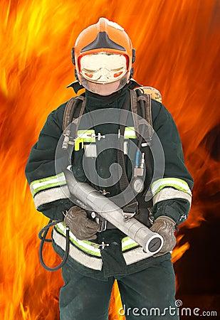 The fireman in regimentals