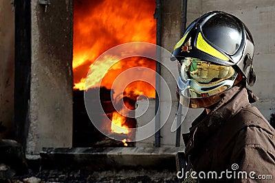Fireman rescue Editorial Stock Photo