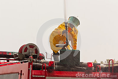 Fireman work hard and smart
