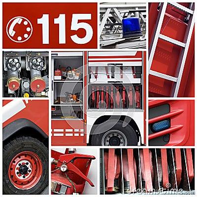 Firemen collage