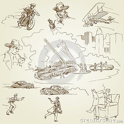 Firemen - doodles