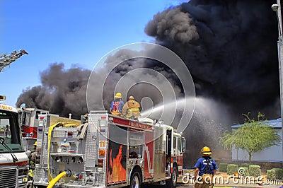 Firemen on a Fire truck