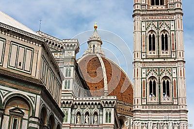 Firenze - Famous Tower of Campanile di Giotto, Duomo di Firenze
