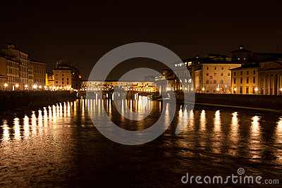 Firenze,Ponte Vecchio by night, Arno River