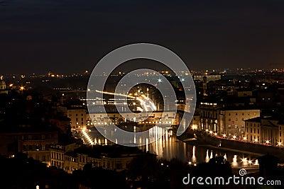 Firenze - Ponte Vecchio, Old Bridge by night