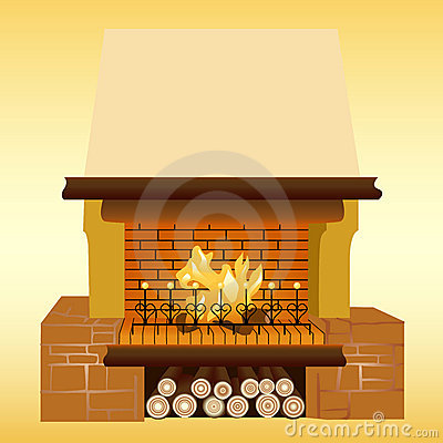 Free Fireplace Royalty Free Stock Image - 4199716